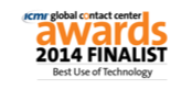 icmi global contact center 2014 Finalist Award
