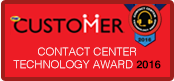 2016 Customer Call Center Technology Award