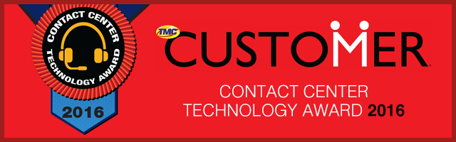 TouchPoint One Receives 2016 Contact Center Technology Award 									from TMC CUSTOMER Magazine
